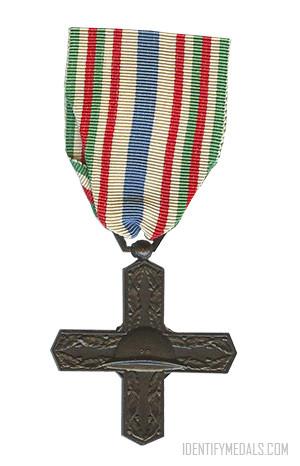 1968 Italy Military medal WWI war VETERAN Vittorio Veneto original ribbon